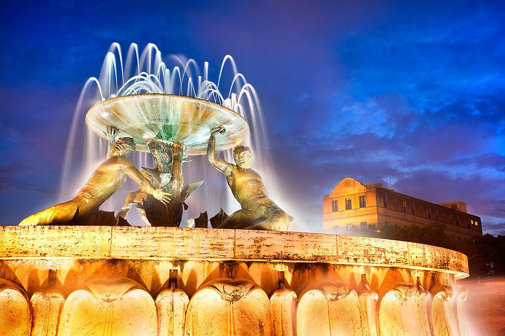 Triton Fountain Malta
