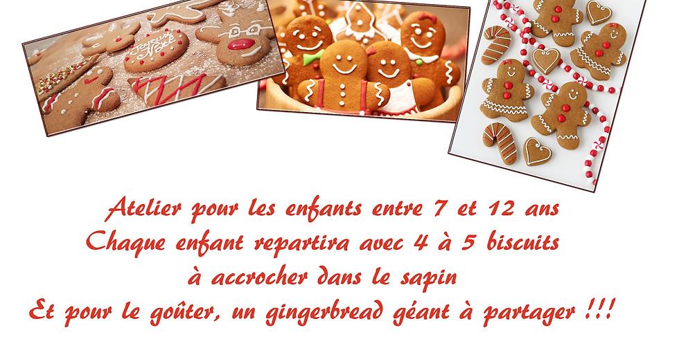 Atelier Décoration biscuits de Noël