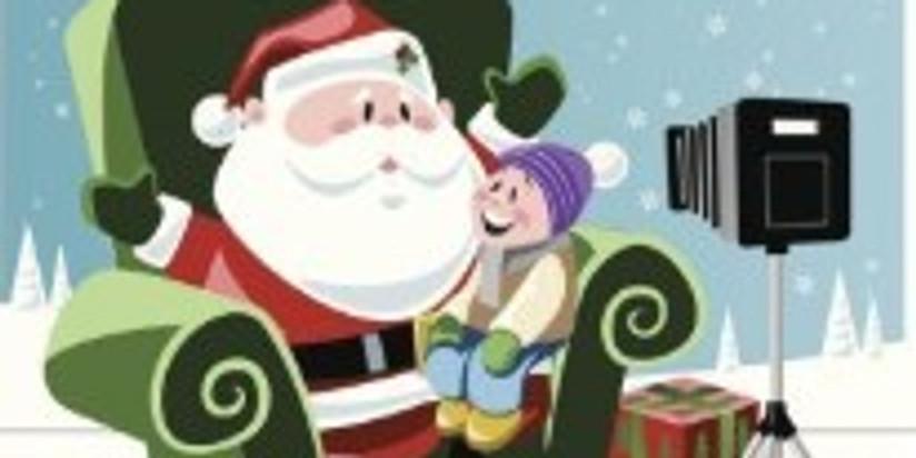 Séance photos avec le Père Noël