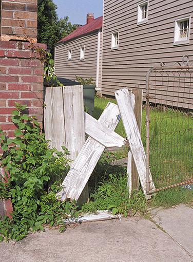 A Cross or a broken fence