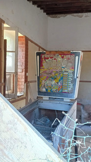 Once a cafe with a pinball machine