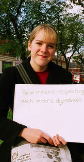 Peace means respecting each other's differences.