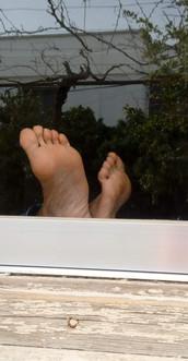 Feet at peace