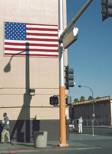 Flag and shadows