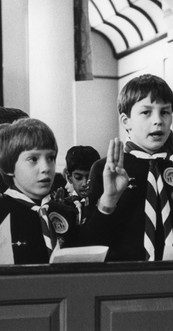 Cubs swearing allegiance