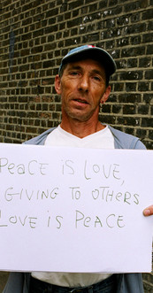 Peace is love, giving to others love is peace