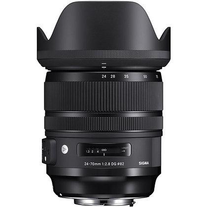 Objectif Sigma 24-70mm f / 2.8 DG OS HSM Art pour Canon EF