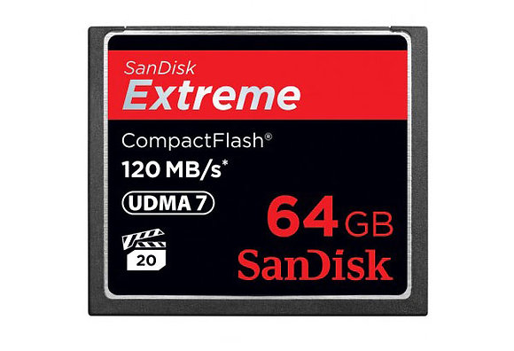 CARTES SANDISK 64G COMPACT FLASH