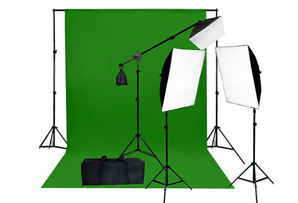 ROULEAU GREEN SCREEN 8X8 AVEC FRAME