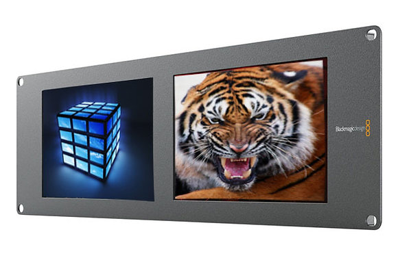 "BLACKMAGIC DUO SMARTVIEW RACKMOUNTABLE DUAL 8"" LCD"