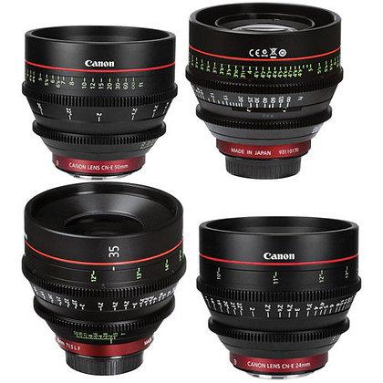 Canon Cine EF Prime 4 Lens Set CNE 24/35/50/85mm