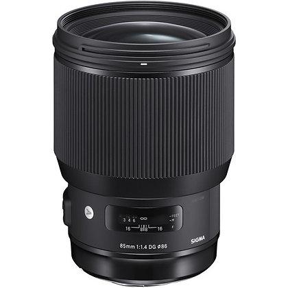 Objectif Sigma 85mm f / 1.4 DG HSM Art pour Canon EF
