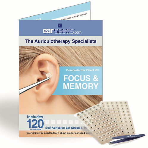 Auriculotherapy / Ear Acupressure - Focus & Memory Kit
