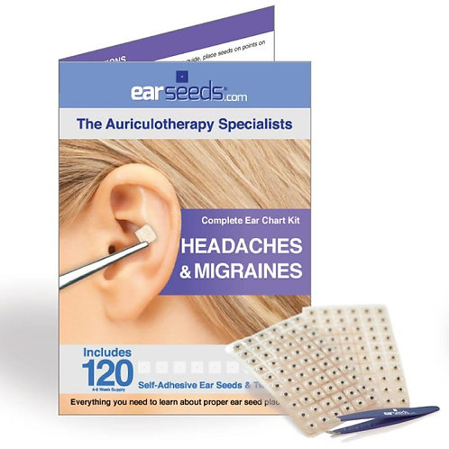 Auriculotherapy / Ear Acupressure - Headaches & Migraines Kit