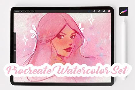 Procreate watercolor set_paper textures_