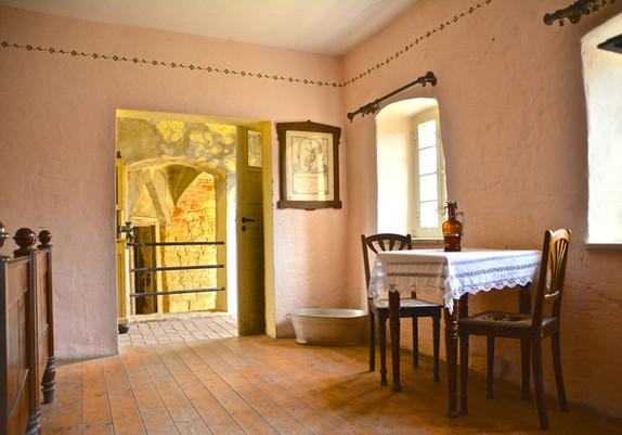 Bohlenbinder-Wohnung