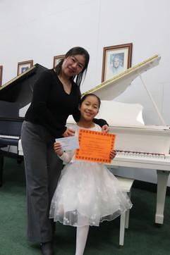 Angie Feng and her teacher Qian Yoyo Liu