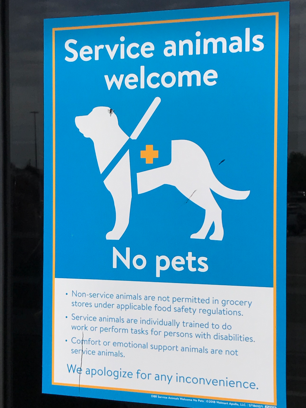 We are not service animals