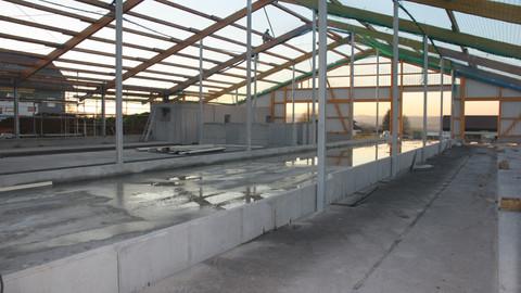 Neubau Milchproduktionshalle