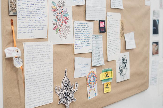 Mural de memórias coletivas / Mural of collective memories