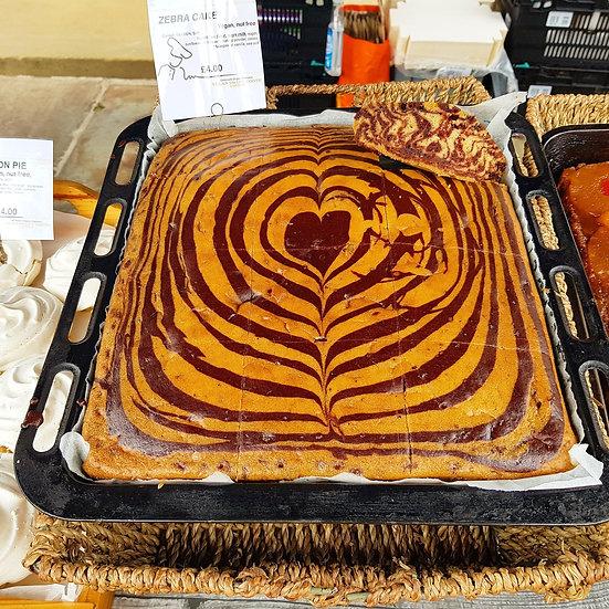 ZEBRA CAKE (Chocolate and Vanilla Sponge Cake)