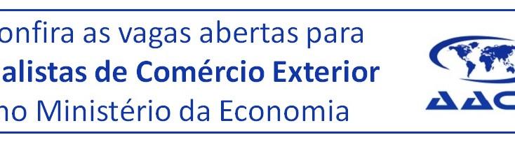 Ministério da Economia anuncia vagas abertas para ACEs
