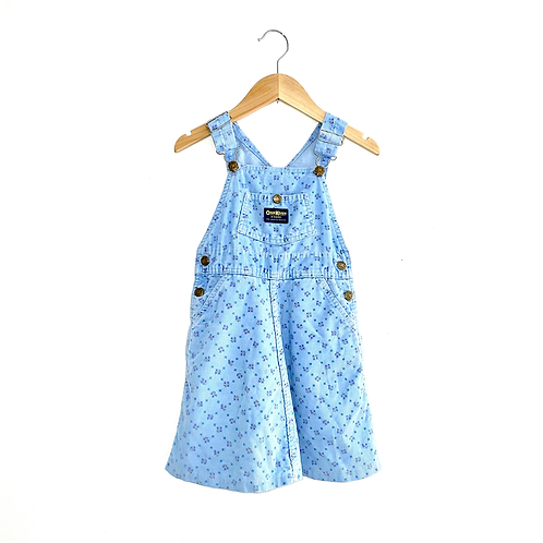 Lovely Floral Cord Vintage Oshkosh Pinafore (5y)