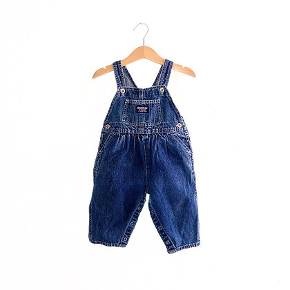 Vintage Oshkosh Denim Dungarees (12m, pink label)