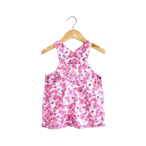 Pretty Floral Vintage Denim Shorts Dungarees (1/2y+)