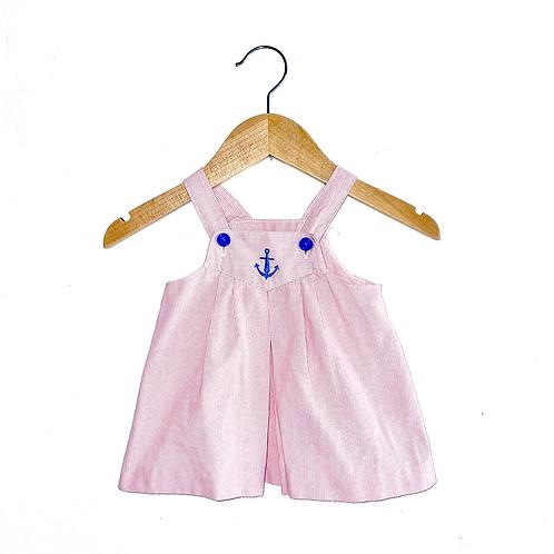 Cute Nautical Vintage Cotton Dress (6/12m)