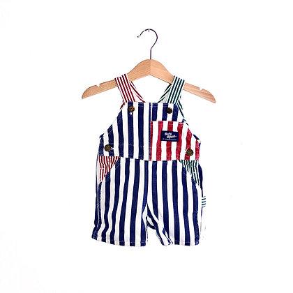 Vintage Oshkosh Bold Stripe Dungarees (6/9m)