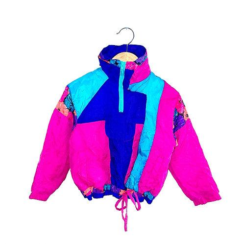 Neon Floral Vintage Shell Jacket  (4/6y)