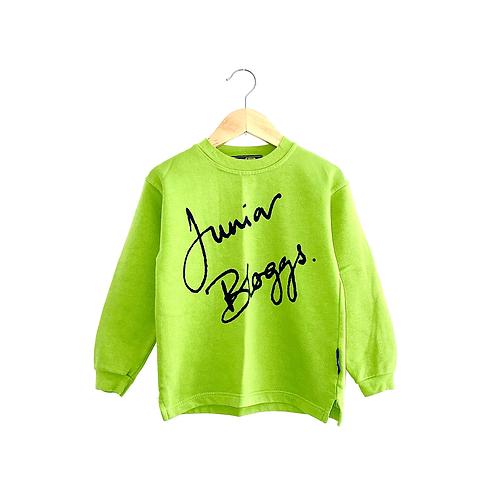 Vintage Junior Bloggs Lime Green Sweatshirt (5/6y)