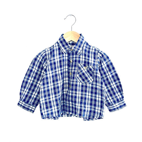 Vintage Blue Checked Shirt (12/18m+)