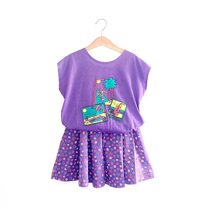 Tropical Vintage Jersey Skirt/Tee Outfit (7/8y)