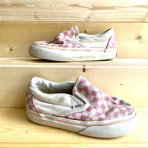 Checkerboard Pink Vans (UK8.5)