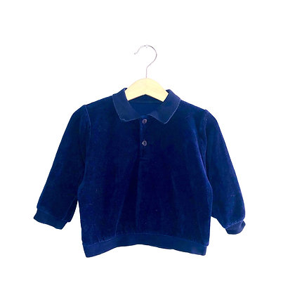Cute Vintage Navy Collared Polo Shirt (approx 1y)
