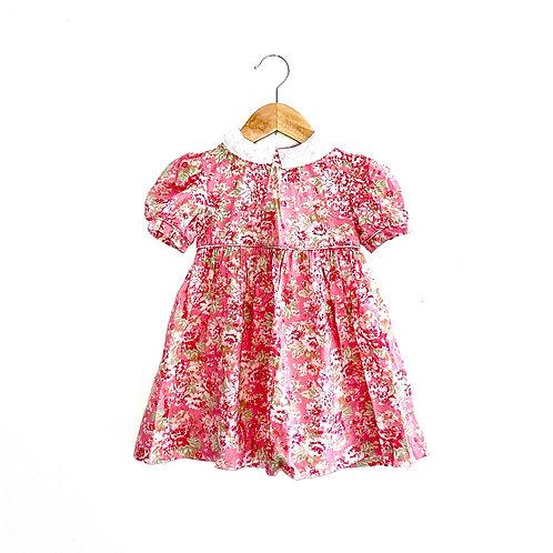 Vintage Laura Ashley Lace Collar Floral Dress (2/3y)