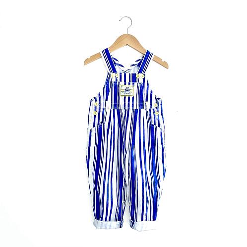 Vintage Blue Stripe Dungarees (2/3y)