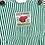 Thumbnail: Vintage Green Stripe Dungarees (2/3y)