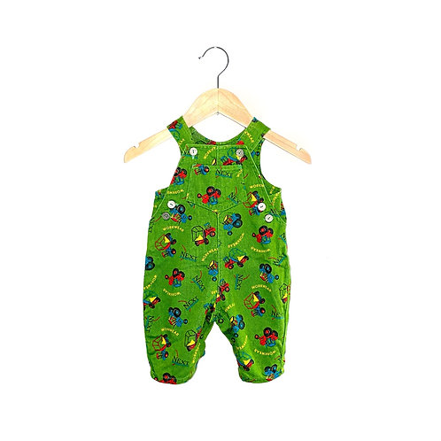 Vintage Tractor Print Next Dungarees (3/12m)