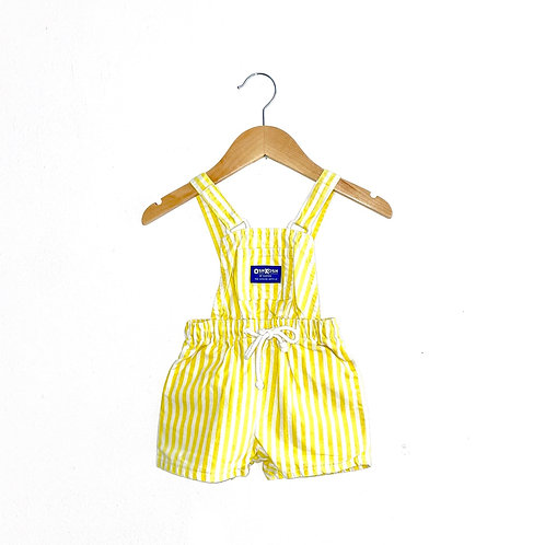 Rare Oshkosh Yellow Stripe Vintage Shorts Dungarees (6/12m+)