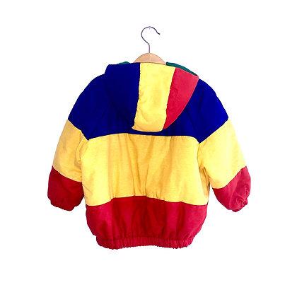 "Vintage ""A"" Colourblock Hooded Bomber Coat (2/3y)"