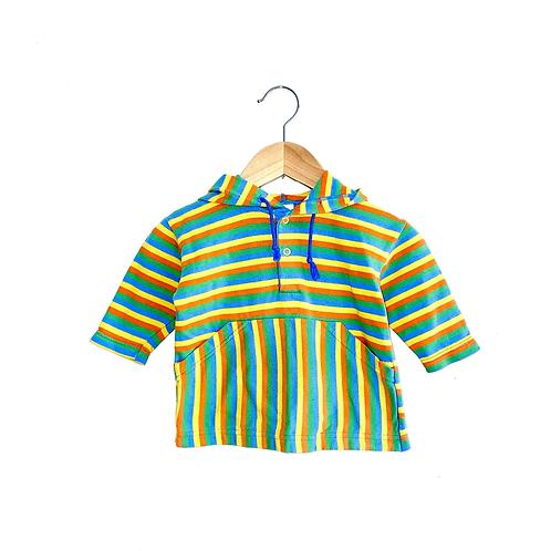 Adorable Vintage Striped Hoodie (6/12m)