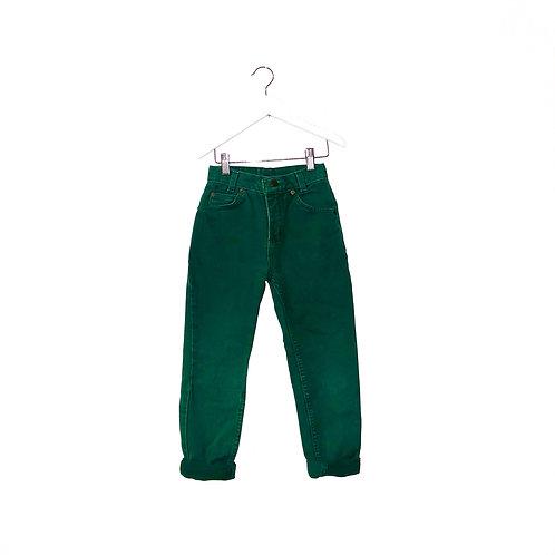 """Vintage Green Jeans (W20"""" L21"""" Approx 4/5y)"""