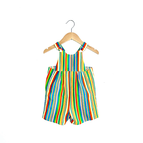 Amazing Bright Stripe Vintage Shorts Dungarees (2/4y)