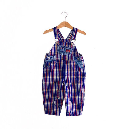 Vintage 90's Checked Dungarees (12/18m)