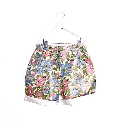 "Vintage Floral Denim Shorts (W27""/TEEN)"