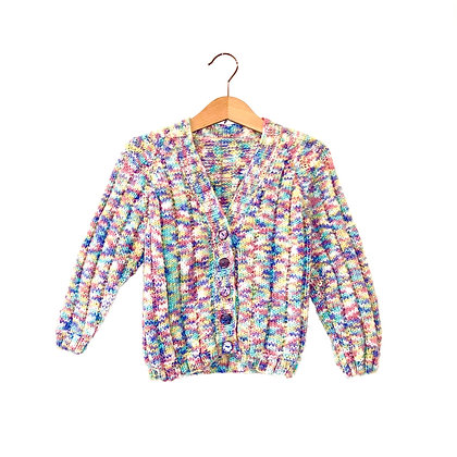 Hand Knit Colourful Cardigan (18-24m)