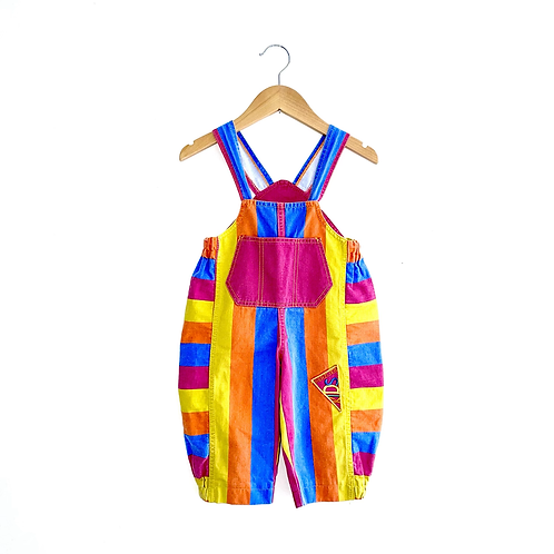 Incredible Vintage Colourful Stripe Dungarees (18/24m+)